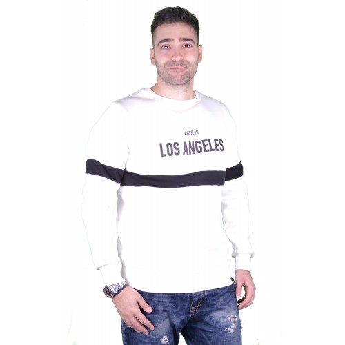 57107-2 LA57 SWEATSHIRT - WHITE
