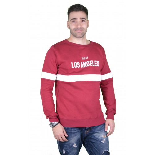 57107-4 LA57 SWEATSHIRT - BURGUNDY