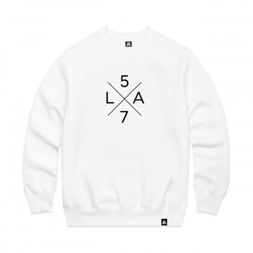 57108-2 LA57 SWEATSHIRT - WHITE