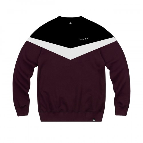 57111-2 LA57 SWEATSHIRT - BURGUNDY/BLACK